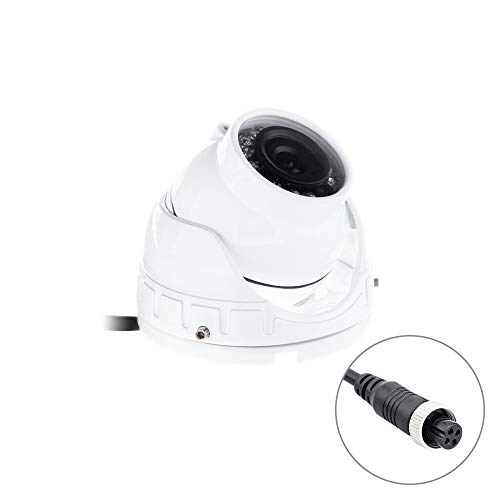 SGTGB Kaixinuo Mini-AHD Dome-Kamera, Farb-IR-Nachtsicht, für LKW, Bus, Mobile DVR, 12 V, Weiß Dc-iris-dome-audio