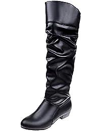 367ae42888370 Logobeing Botas Mujer Invierno Botines Mujer Tacon Plataforma Botas Mujer  Cuñas Botas Altas hasta la Rodilla Botas de…