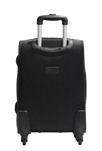 Kabinengröße Tasche Alistair One 55cm - Nylon Canvas Ultra Light - 4 Räder - Schwarz Schwarz