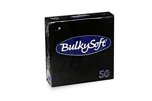 Bulky Soft BS-32770 Servietten 1/4 Falz, 2-lagig, 33 cm x 33 cm, Schwarz (50-er Pack)