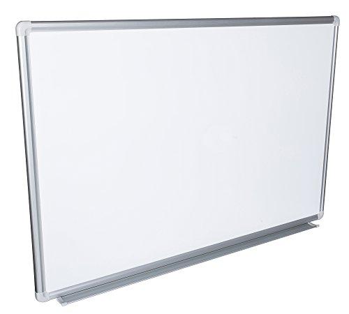 Whiteboard Magnettafel mit Alurahmen und großer Stiftablage, in 16 Größen, schutzlackiert magnethaftend, mit Montagematerial Größe:120x90 cm