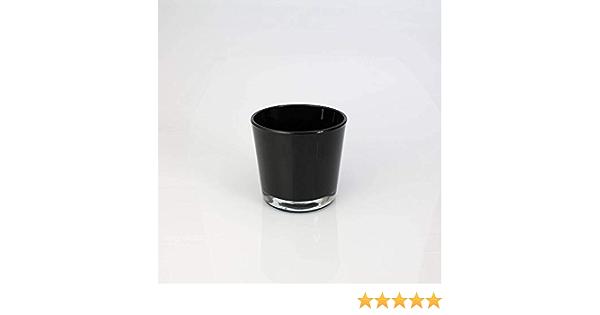 Photophore//Vase Conique INNA-Glas Verre /à Bougie Alena 9,5cm Noir /Ø11,5cm