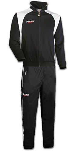 DragonSport Trainingsanzug Performance, Größe:176, Farbe:schwarz/Weiss