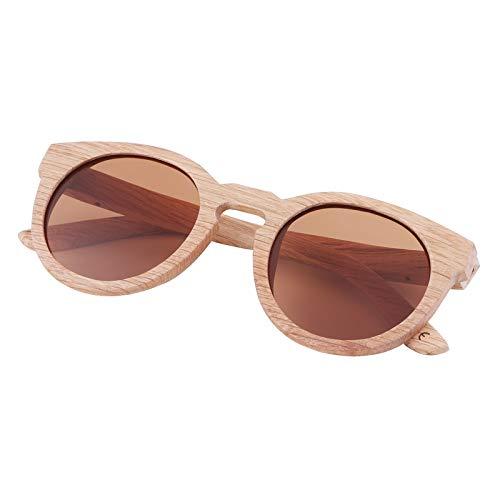 Zbertx Neue 100% Echtholz Sonnenbrillen polarisierte handgemachte Bambus Frauen Sonnenbrillen,braun