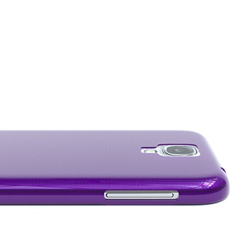Samsung Galaxy S4 / S4 Neo Hülle - EAZY CASE Ultra Slim Cover TPU Handyhülle Matt - dünne Schutzhülle aus Silikon in Dunkelblau Brushed Lila