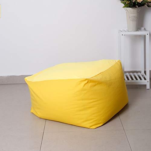 Canapés Sacs D'haricot Carrés Et Chaise De Pouf Poire D'unit en Tissu Multicolore Facultative Fauteuil Poire (Color : Yellow)