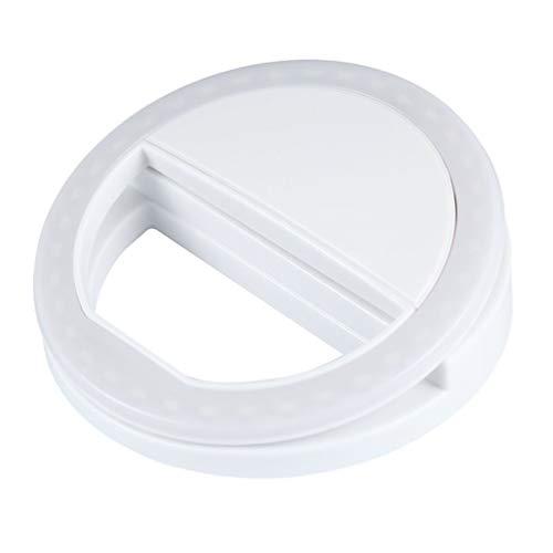 GreatWall Portable Selfie Light Anello Clip Luminoso LED Flash Flash Phone Anello Bianco
