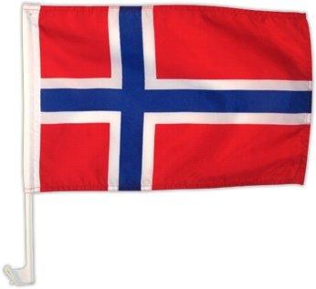 Autofahne Autoflagge Norwegen 30 x 45 cm