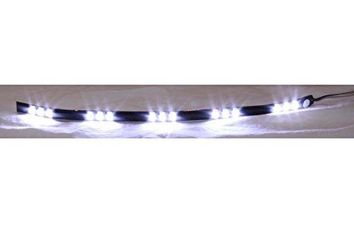 2 Stück LED Leiste SMD XENON weiß 28 cm 12V Band Strip