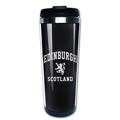 Wasserflasche Cup Travel Mug Kaffeebecher, Coffee Cups Edinburgh Scottish Coffee Cup Stainless Steel Coffee Mugs Water Drink Bottle for Adults Kids
