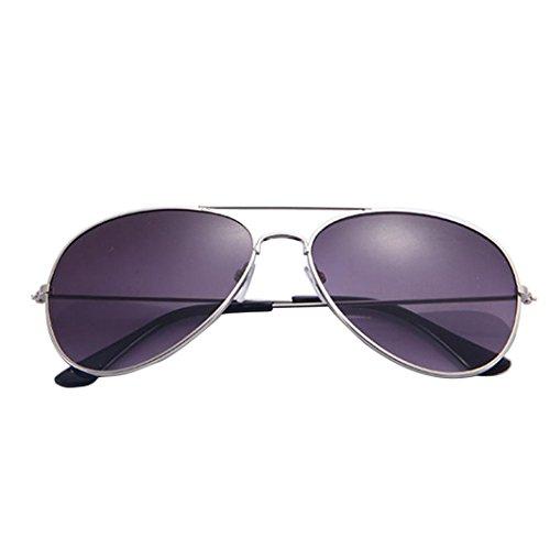 Holeider 2018 neue Sommer Sonnenbrille Männer und Frauen, Mode heiß Unisex Männer und Frauen klassische Metall Designer polarisierte Sonnenbrille neue Katze Brille (Silber-Grau)