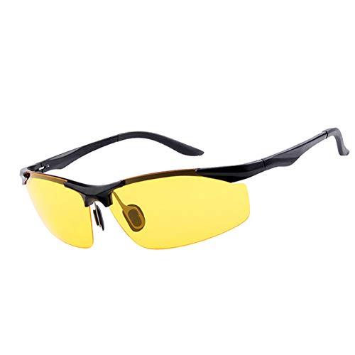 Polarisierte Nachtfahrsonnenbrille, gelbe Sonnenbrille, für Männer Frauen, die polarisierte, blendfreie UV400-Schutzbrille Fahren