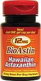 Nutrex, BioAstin, Hawaiian Astaxanthin, 12 mg, 25 Gel Caps