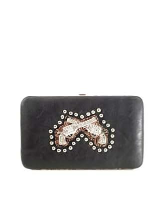 Western Cowgirl Portefeuille porte-monnaie femme cuir synthetique # JO1024GNW(BK)