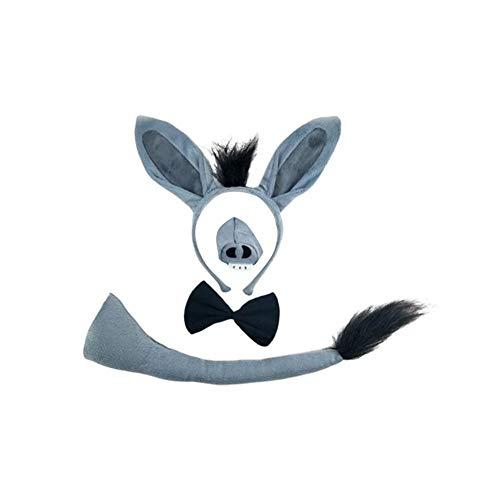 Finelyty Halloween Animal Ear Stirnband, Cow Giraffe Stirnband, Buttercup Head Hoop, Erwachsene/Kinder Rollenspiele Stage Performance - Buttercup Kostüm