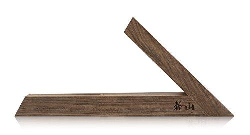 cangshan 1021387Triangle Walnuss Holz Messerblock, One Slot
