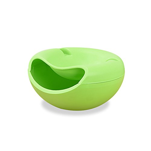 Double Layer Dry Fruit Container Snacks Aufbewahrungsbox Garbage Teller Halter für grün (Unten Double-layer)