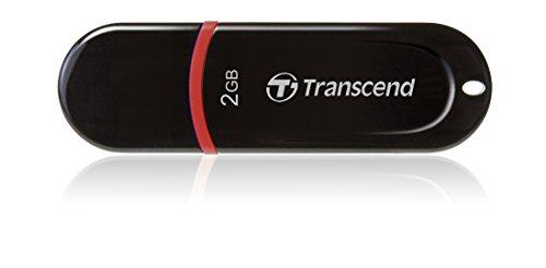 Transcend JetFlash 300 - Memoria USB de 2 GB, color rojo