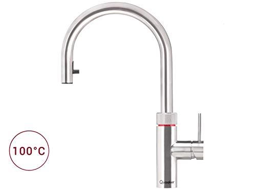 Quooker Flex COMBI+ 2.2 Kochendwasserhahn / Kochendwasser-Armatur & Mischbatterie / ausziehbarer Auslauf / Edelstahl (RVS)