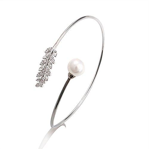 TATRIUM Damen Armreif mit weißen Swarovski Kristallen