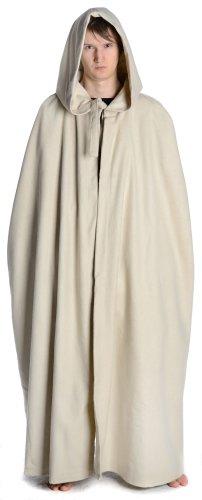 HEMAD moyen à capuche unisexe cape autant schafwollfilz noir/beige/marron Beige - Beige