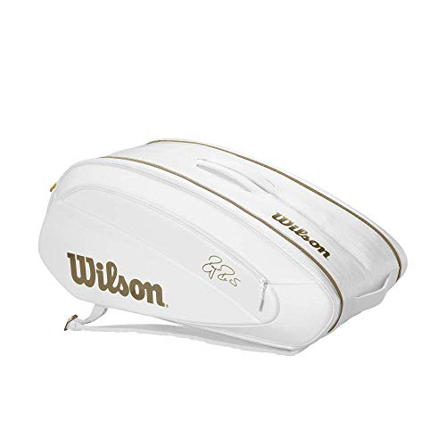 Wilson Federer DNA 12 Pack Tennis Bag (White/Gold)
