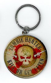 Frank Wiedemann - Zombie Hunter Medallion High Quality Metal Llavero Keychain with Chrome Key Ring de Frank Wiedemann