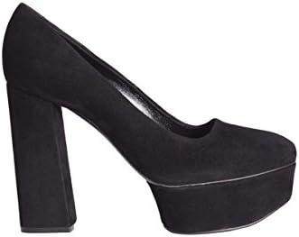 Casadei Mujer 1F184E120CAMO000 Negro Gamuza Zapatos Altos