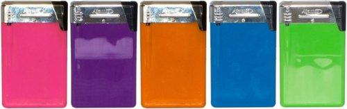 5 x ATOMIC Card Elektronikfeuerzeug Feuerzeug nachfüllbar 5 Farben Werbegeschenk Werbemittel bedruckbar sehr dünn