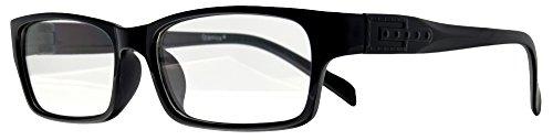 Retro Nerd Brille Klar - Die neue Kollektion (Schwarz-Schmal)