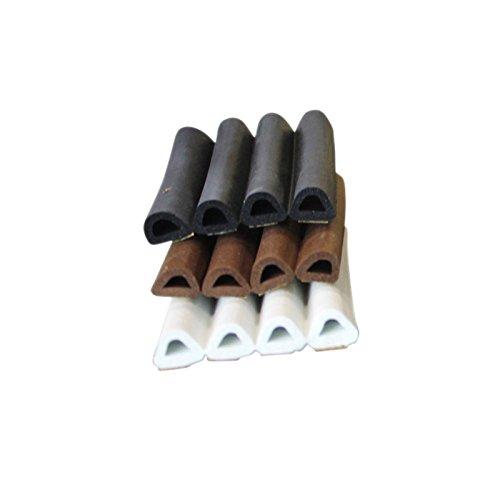 TOP MULTI Fenster- & Türdichtung D-Profil in schwarz, 9 x 7,5mm, 20 Meter | Gummidichtung + Schall-Dämmung | Zargen-Abdichtung | Fenster-Dichtung | Zugluft-Stopper | EPDM Profildichtung | Dichtungsband (Dämmung Zurück)