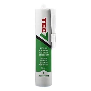 Tec7 Klebstoffe/Kleben, Montieren und Abdichten | Weiß | 310ml | Einfach zu verarbeiten und für viele Materialien