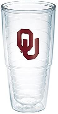 Tervis Oklahoma University Emblem by Individual Tumbler, 24 oz, Clear by Emblem Tervis 701737