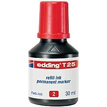 Edding 720217 - Frasco de tinta para rotulador, 30 ml, color rojo