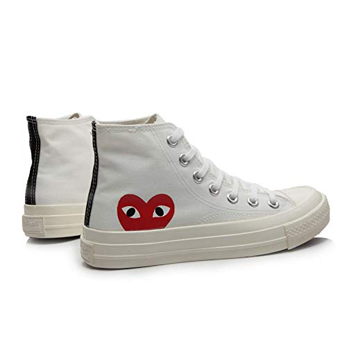 Replica 1970s Canvas Shoes Joint Name CDG Play Love Heart Unisex Adults'  High-Top Sneaker