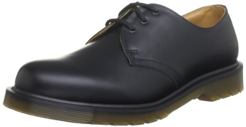 Dr. Marten's 1461 3 Eyelet, Unisex-Adults' Lace-Up Flats, Black, 9 UK