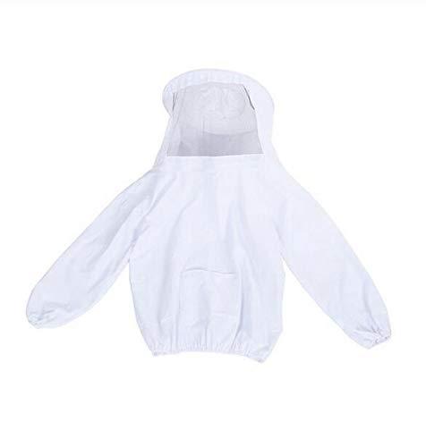 MEICHEN Bienenanzug mit Aufbewahrungstasche Anti-Bienen-Kleidung Kopfmaske aus Oberbekleidung für Imker Kostüm,White (Bienen Und Imker Kostüm)