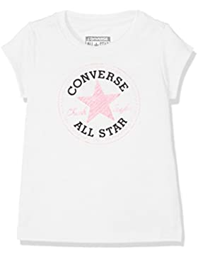 Converse Chuck Patch Tee, Camiseta para Niños, Neo Pink