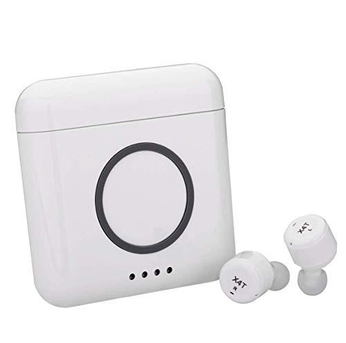 ZGYQGOO Bluetooth Headset Invisible Kabellose In-Ear-Kopfhörer 4.2 Intelligente Rauschunterdrückung Kabelloses Laden Mit Ladefach, Bewegung der kabellosen Ohrstöpsel, Weiß