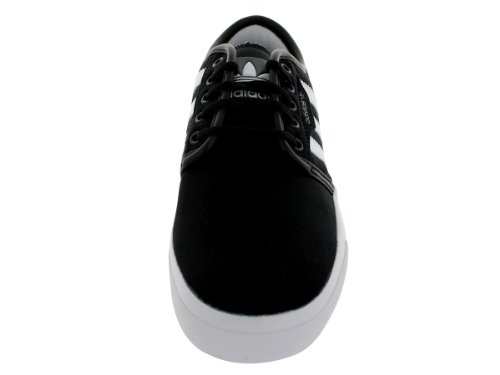 Adidas Performance Seeley Skate scarpe, cenere grigia / bianco / nero, 4 M Us Black1/Runwht/Black1