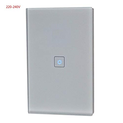 Cont Panel (Smart Wifi Switch Panel Genehmigt Smart WiFi Light Fan Einzelne Dimmschalter Schreibtischlampe Google Home Alexa Cont - Grau - Einzelnes Dimmen)