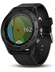 Garmin Approach S60 GPS-Golf-Uhr mit Schwarz Silikon Band, Schwarz