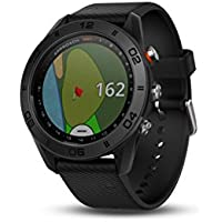 Garmin Approach S60 GPS golf watch with black silicone band