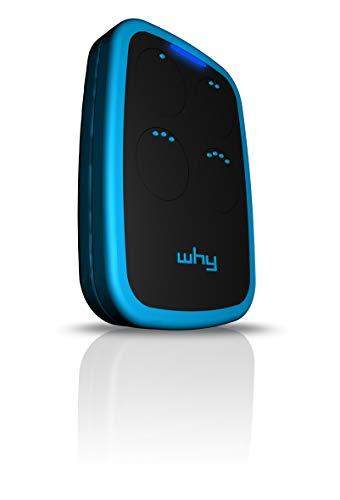 WHY EVO RADIOCOMANDO Universale APRICANCELLO New MULTIFREQUENZA da 300 A 868 MHz - 4 Tasti - Blu - Sky Blue