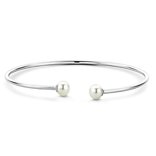 Miore Damen Sterling Silber (925) Designer Armreif Armband mit Perle