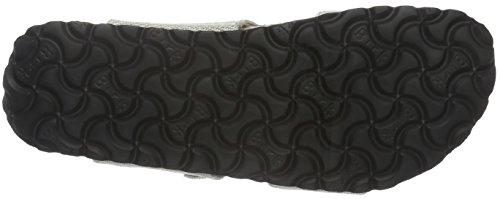 Birkenstock Damen Sydney Textil Pantoletten Beige (Metallic Knit Beige)