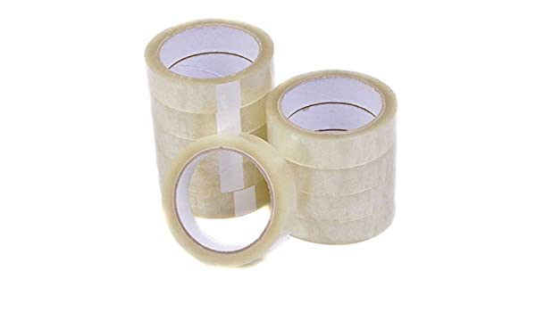 6 Rolls Clear Sellotape Parcel 24mm x 50m Packaging Tape Wrapping