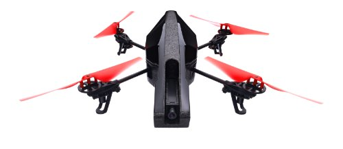 Parrot AR.Drone 2.0 Power Edition Quadrocopter (geeignet für Android-/Apple-Smartphones und -Tablets) rot (Regie-kamera)