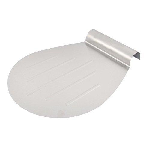 DealMux Metall Anti-Rutsch-Gummi-Pasten-Fondant Pfannkuchen Spatel Pizza Turner Kuchen Lifter Mover-Silber-Ton
