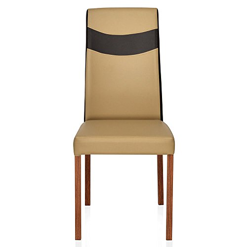 @home by Nilkamal Tavern Single Seater Dining Chair with Cushion (Brown)